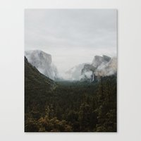 yosemite Canvas Prints featuring Yosemite Fog by Kevin Russ