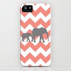 Chevron Elephants Slim Case iPhone (5, 5s)