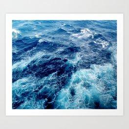 Rough Ocean Waves Art Print