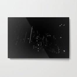 Hong Kong City by Night Metal Print