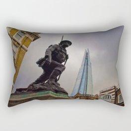 St Saviours War Memorial The Shard Southwark London Rectangular Pillow
