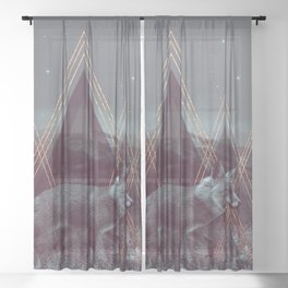In Wildness | Fox Sheer Curtain