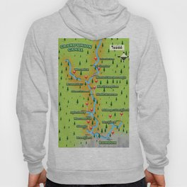 Grand Union Canal Map Hoody