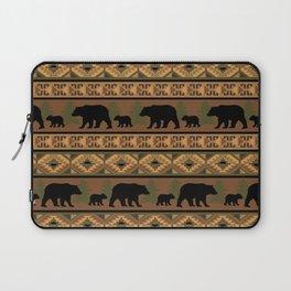 Black Bear and Cub Laptop Sleeve