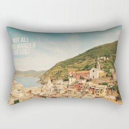 Not All Who Wander Are Lost Rectangular Pillow