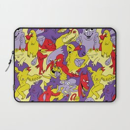 Bright Topless Bird Party Laptop Sleeve