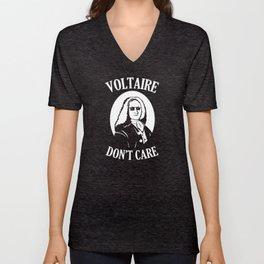 Voltaire Don't Care Unisex V-Neck