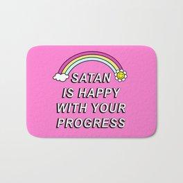 Satan is Happy with your Progress Bath Mat