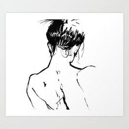 Neckline Art Print