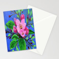 Pink blossoms  Stationery Cards