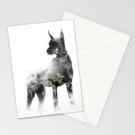 Doberman Pinscher NYC Skyline Stationery Cards