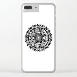 Mandala Flowers Clear iPhone Case