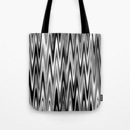 WAVY #1 (Black, White & Grays) Tote Bag