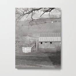 Barn at the bottom of the hill Metal Print