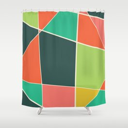 Colorful mosaic for your home Shower Curtain