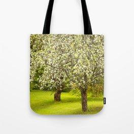 Flowering Apple Trees Tote Bag