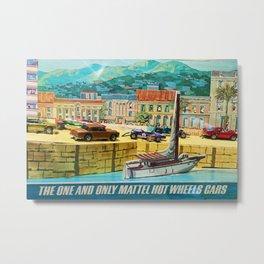 Original Hot Wheels Redline Toy Car 1960's Store Display Vintage Poster Metal Print