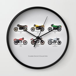 Classic Motorcycle Collection Wall Clock
