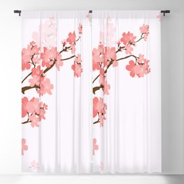 Blooming cherry tree Blackout Curtain