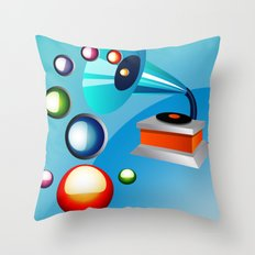 Atomic Music Throw Pillow
