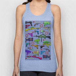 Vintage Toy Guns Unisex Tank Top