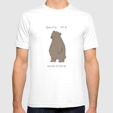 Bears are Awesome  White LARGE Mens Fitted Tee