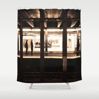 rush Shower Curtains featuring Rush Hour by Brown Eyed Lady
