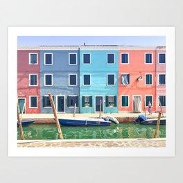 Colorful Burano Homes Art Print
