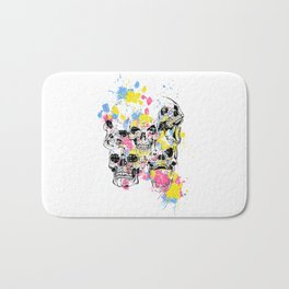 Skeleton Bone - Colored Vintage Skulls Bath Mat