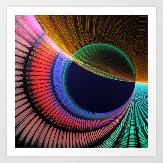 Groovy textured colourful abstract Art Print