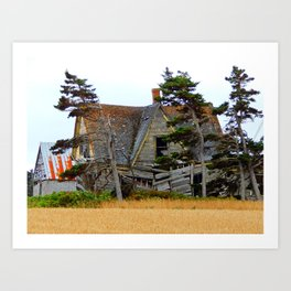 Abandoned Collapsing Homestead Art Print