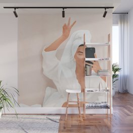 Morning Selfie Wall Mural
