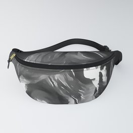 Horse In Grey On Black Fanny Pack