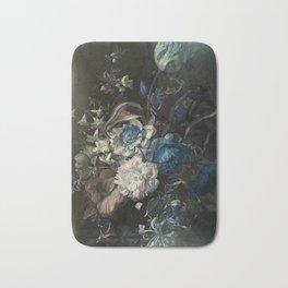Shabby, classy, pastel blue floral Bath Mat