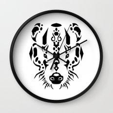 Tribal Badger Wall Clock