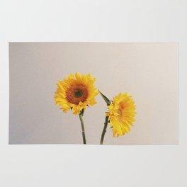 Sunflowers Minimalistic Rug