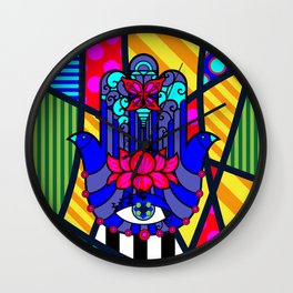 Lucky Hand of Fate SQuare Wall Clock