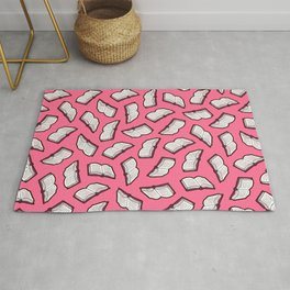 Reading Books pattern in Pink Rug