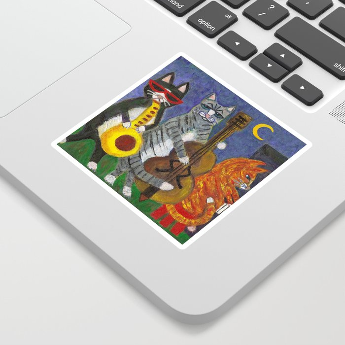 Jazz Cats Sticker