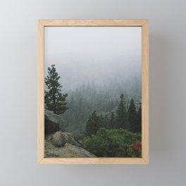 Foggy Emerald Bay Framed Mini Art Print
