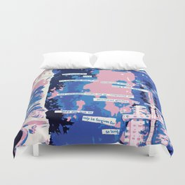 Cafe - Digitally manipulated painting Duvet Cover