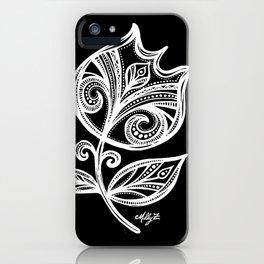 White Flower 111 iPhone Case