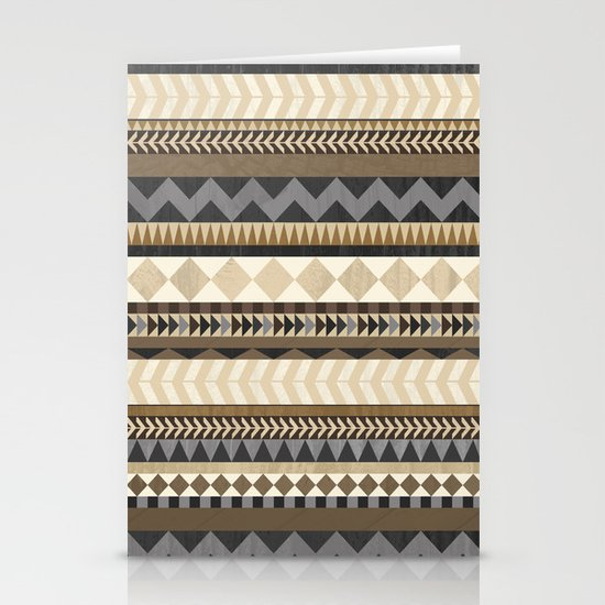 Dusty Aztec Pattern Stationery Cards