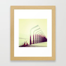 WALKING DOWN MEMORY LANE Framed Art Print