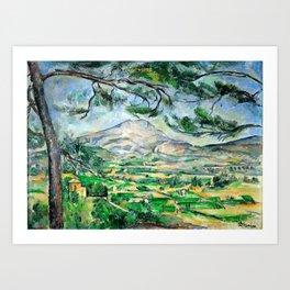 Paul Cézanne, Mont Sainte-Victoire, Courtald Art Print