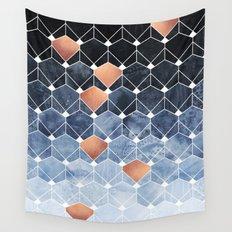 Copper Diamonds Wall Tapestry