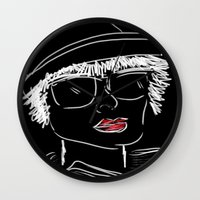 hat Wall Clocks featuring Hat by transFIGure