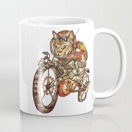 Berserk Steampunk Motorcycle Cat Coffee Mug