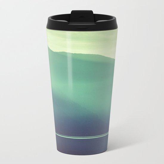 Summer at the Lake Turquoise Metal Travel Mug