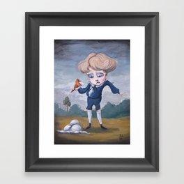 Boring Blue Boy Framed Art Print